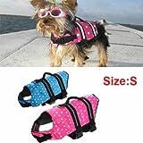 Safety Float Waterproof Adjustable Pet Dog Cat Life Jacket Size S