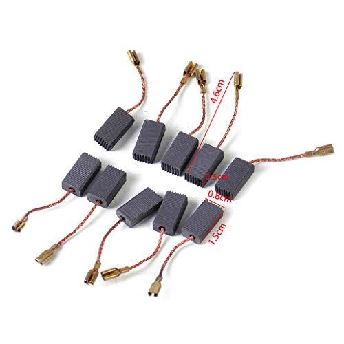 BIlinli 10 Stück Kohlebürsten Ersatz passend für Bosch GWS 580 GWS 850 C GWS 7-115 GWS 8-125 GWS 9-150CS GWS6-100 D11
