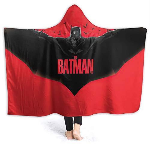 Coperta super morbida in pile Sherpa con cappuccio Batman Superhero Comics (Batman-1, M 152,4 x 127 cm)