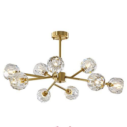 Colgante de techo iluminación decorativa para las lámparas para salón, dormitorio, comedor Gold 12 Lightpod moderno lámpara de luz completa de cobre de lujo simple Nordic salón sala
