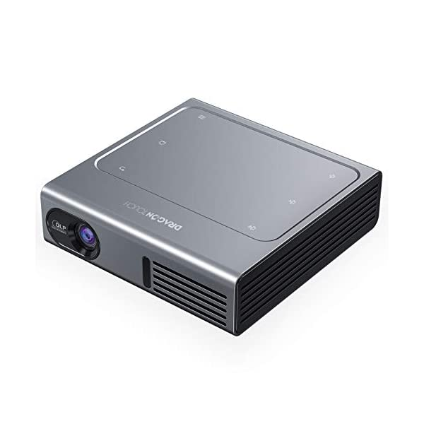 Dragon Touch Z1 Mini Projector, 150 ANSI Lumen 1080P Supported DLP Portable Projector...