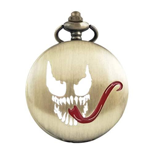 Hemobllo Halloween Effrayant Quartz Montre Collier Citrouille Cadeaux décoration Accessoires Enfants chaîne Femmes