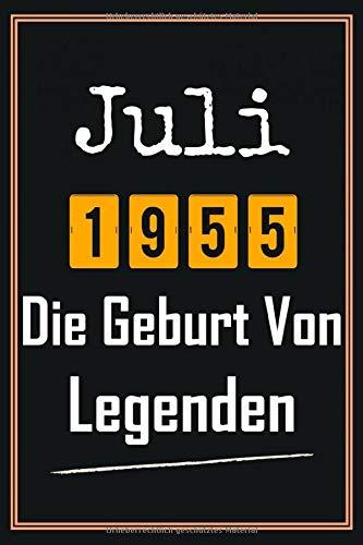 Juli 1955 Die Geburt von Legenden: Notizbuch a5 liniert softcover geburtstag 65 jahre geschenkideen frauen Männer, Geboren Juli, Geburtstagsgeschenk für Bruder Schwester Freunde mann