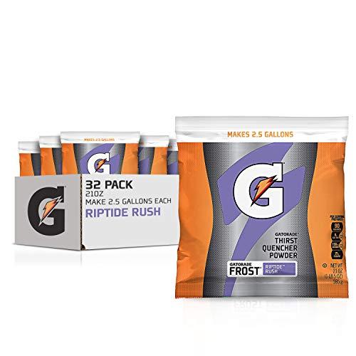 Gatorade Powder Bag Riptide Rush, 1.31 Pound (Pack of 32)