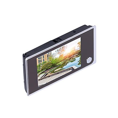 Digitale deurbel, stijlvolle ultradunne video-deurbel met 24 uur per dag bewaking Mooi uiterlijk voor in de tuin voor thuis((Silver))