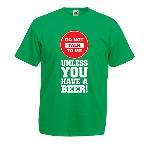 lepni.me Camisetas Hombre ¡Citas de los Amantes de la Cerveza! Ideas Divertidas del Regalo del Alcohol, Ropa para la Fiesta, Camisas para Beber, Pub, refrán del Bar (X-Large Verde Multicolor)