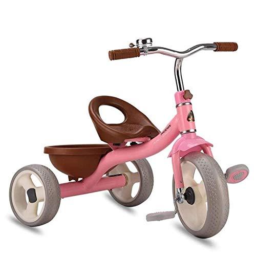 CHENYE 3 en 1 Triciclo para niños Bicicletas de 3 Ruedas Ropa de recreación Triciclo para niños pequeños con Campana Interior/al Aire Libre - Rosa