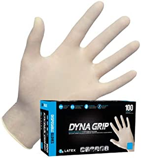SAS Safety 650-1004 Dyna Grip PF Latex Gloves - Box of 100, X-Large