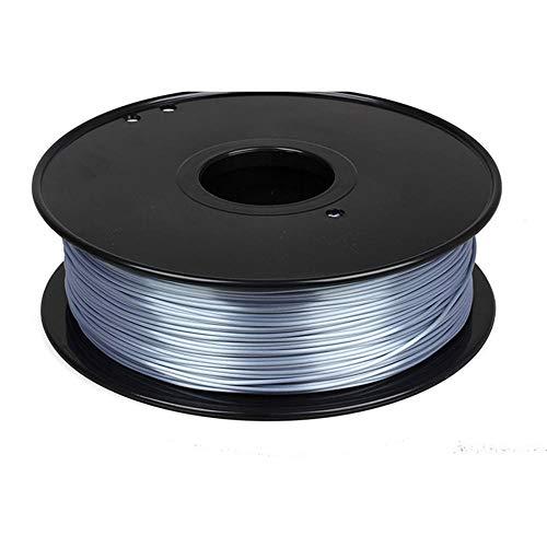 Filamento per stampante 3D 1,75 mm, filamento di seta PLA 1 kg, materiale composito polimerico, lucido-Argento