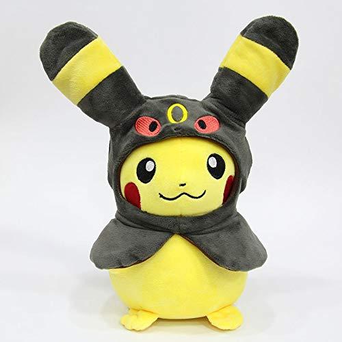 Pocket Dieren Pikachu Cosplay Eevee Gengar Pluche Gevulde Poppen Eevee Met Mantel Coss Pikachu Speelgoed Kids Gift 28Cm B
