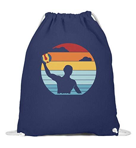 Wasserball Spieler Retro Turnbeutel | Wasserpolo Tor Ball Vintage Gymsac