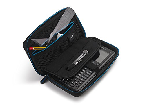 Supremery for Texas Instruments TI-Nspire CX/CAS Graphing Calculator Case Cover EVA Shockproof Travel Storage - Black/Blue Photo #5