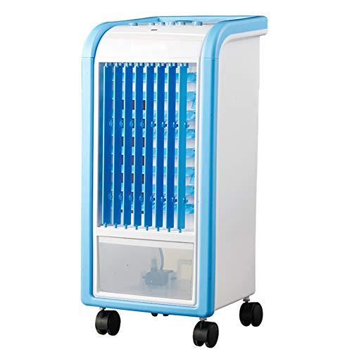 LIQICAI Aire Acondicionado Portátil 3 Velocidades del Ventilador con Botón Rueda Universal Tanque De Agua 3L (Color : Light Blue+White)
