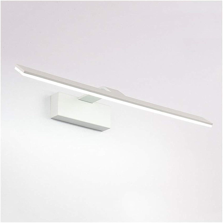 Bad Spiegelleuchten LED Spiegel Scheinwerfer Make-Up Lampe Bad Spiegel Lampe Spiegel Kabinett Lampe Schlafzimmer Korridor Wandleuchte [Energieklasse A +] (Farbe   Positive Weiß light-42cm)