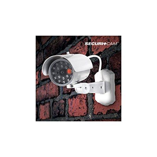 bitblin ig108474–Telecamera di sorveglianza con sensore di movimento guidare, Moderno Colore: Bianco/Grigio