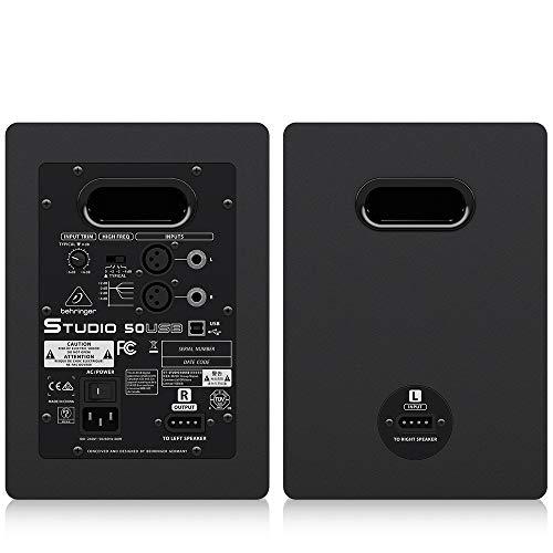 ベリンガーUSB入力搭載5インチ2-Wayパワードモニタースピーカー(2本セット)STUDIO50USB