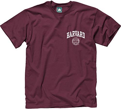 Ivysport Harvard University T-Shirt, Scholar Logo, Crimson, Medium