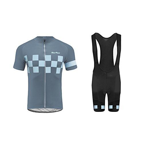 Uglyfrog Maillot Cyclisme Homme Manches Courtes Cuissard Vélo Cyclisme avec 3D Gel Rembourré Respirant Séchage Rapide pour Le Tour de France