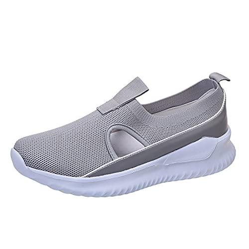 Donna Casual Sportivi Scarpe Slip On Mesh Scarpe Comode Traspiranti Scarpe da Camminata Fitness Sportive Sneakers Moda Scarpe da Ginnastica Mocassini Sandali
