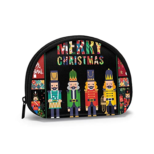 Coin Purses Merry Christmas Man Pouches for Purse Boys Handy Bag Keys Holder Portable Mini Change Wallets for Women Girls 4.7 X 3.5 Inch