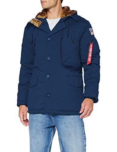 ALPHA INDUSTRIES Herren Polar Jacket Jacke, Azul, S