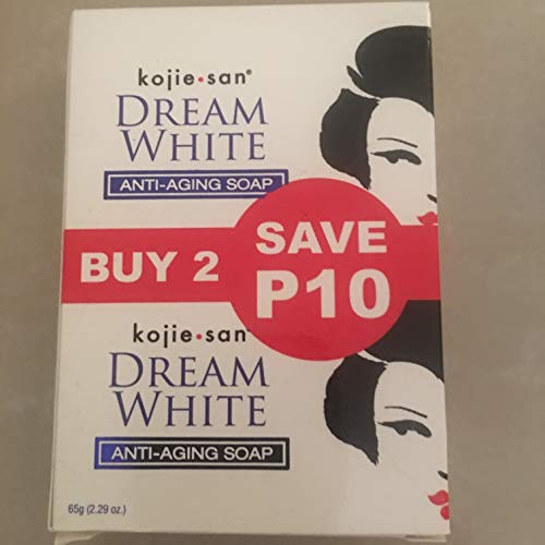 KOJIE SAN SOAP, ALL VARIANTS, FREE SHIPPING (DREAM WHITE WHITENING SOAP 2X65GRAMS) by Kojie San