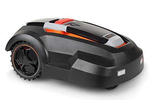 Zoef Robot Harm 2.0 Automatischer Rasenmäher für Gärten bis <1500 qm, Schnitthöhe 25-65 mm, für programmierte und einstellbare, inkl. Zubehör wie Begrenzungskabel