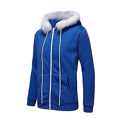 Landscap Mens Winter Warm Fleece Hood Zipper Sweater Jacket Pullover Workout Fleece Hoodie Jackets Outwear Full Zip Coat