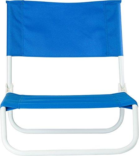 Preiswert&Gut Strandstuhl Beach Klappstuhl Strand 48x44,5x52 Strand Stuhl 1.2Kg faltbar auf ca 64 x 45 x 16 cm Camping Stuhl Farbwahl (Blau)