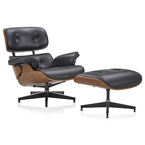 BELLEZE Kurt Lounge Chair with Ottoman