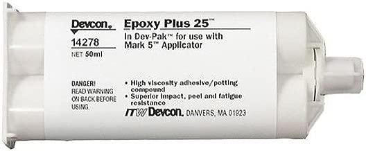 Devcon Epoxy Plus 25 Gray Epoxy Adhesive - Gray - Base & Accelerator (B/A) - 50 ml Cartridge 25 [PRICE is per CARTRIDGE]
