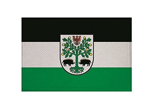 U24 Aufnäher Eberswalde Fahne Flagge Aufbügler Patch 9 x 6 cm