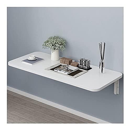 LSXIAO Wandmontierter Drop-Leaf-Tisch, Küche Esstisch Schreibtisch, Arbeitsplatz Computertisch, Blumen Regal, 2,5cm Dick Esszimmer, Studie (Color : White, Size : 60x40cm)