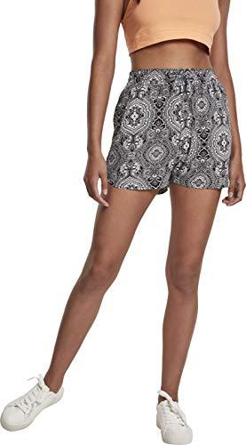 Urban Classics Shorts Ladies AOP Kurze Hose Viscose Resort Pantalones Cortos Informales, Bandana, XS para Mujer