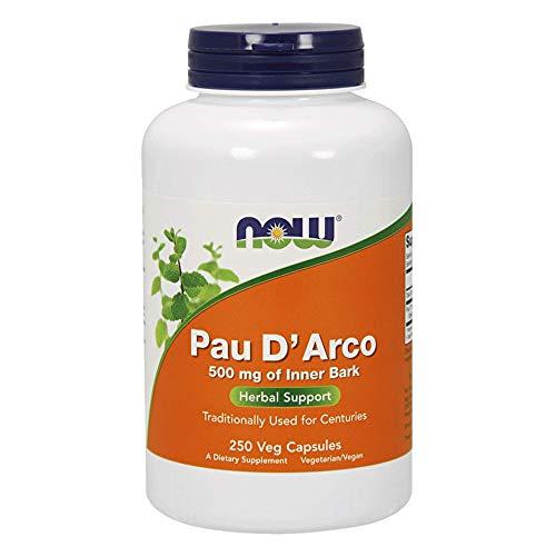 Now Foods, Pau D'Arco, 500mg, 250 Capsules, sans gluten, sans soja