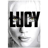 ルーシー(2014)クラシック映画のポスターとプリントウォールアートキャンバス絵画家の装飾キャンバスにプリント-50x70cmフレームなし