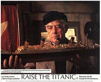 Raise The Titanic ALEC Guinness Holding Model of HMS Ship Original Lobby Card
