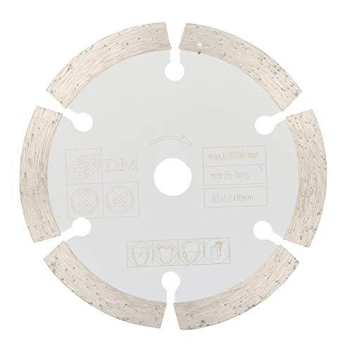 Sierra de corte circular-85 mm x 10 mm Sierra de corte circular de diamante Disco de corte de herramienta giratoria para carpintería