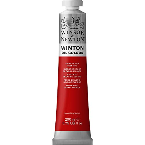 Winsor & Newton 1437098 Winton Oil Color Paint, 200-ml Tube, Cadmium Red Deep Hue