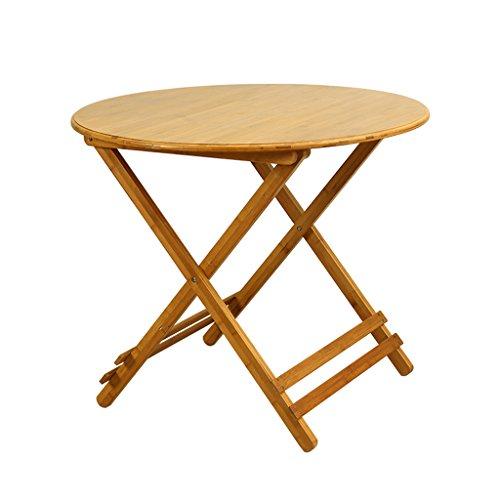 pour Les Petits espaces Pliable Table à Manger Plier en Deux Table Basse Bamboo (Taille : 24-inch)