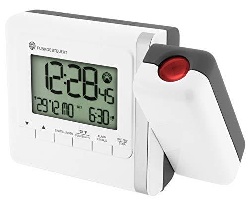 Zeit-Bar Funkwecker mit Deckenprojektion (Uhrzeit oder Temperatur)