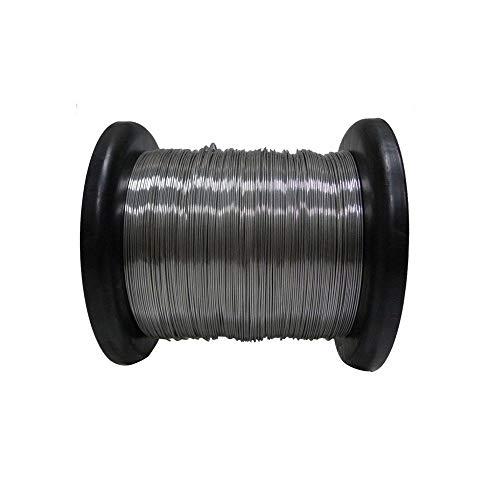 Bobina Arame Aço Inox 0,45mm 400MT Arame Liso Cerca Elétrica