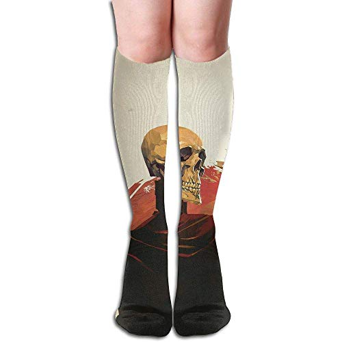 NA buis hoge knie sokken bemanning Sushi patroon compressie sokken lange sport kousen 19.7in (50cm)