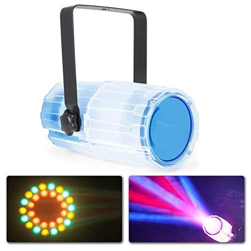 Beamz Moon Flower LED Disco-Zubehör schwarz, transparent, Bernstein, Blau, Grün, Rot, Weiß, AC)