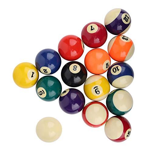 Base de algodón Suave ecológica Bola de Billar Coloreada Resina de poliéster Bola de Billar Estilo Americano 16 Piezas, para Salas de Juegos, para Deportes recreativos