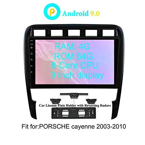 XISEDO Android 8.0 Autoradio In-Dash 9 Pulgadas Radio de Coche 8-Core RAM 4G ROM 32G Car Radio Estéreo Navegación de Automóvil para Porsche Cayenne (2003-2010) Soporte Control del Volante, RDS, WiFi