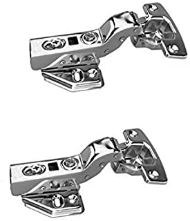 FYTRONDY Inset Stainless Steel Soft Slow Close Kitchen Cabinet Door Hinges,ONE Pair (2 PCS) in Pack