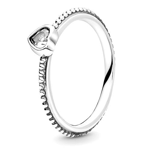 Pandora Jewelry One Love Cubic Zirconia Ring in Sterling Silver, Size 9