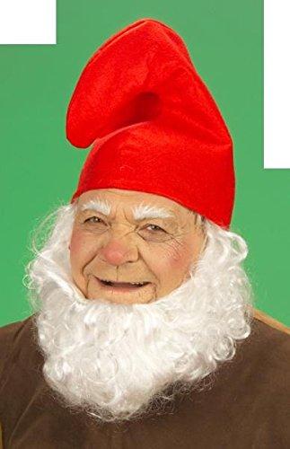 Unbekannt 1 x Zwergenmütze Mütze rot Kopfumfang ca. 57 cm - Zwerg Fasching Fastnacht Karneval fürs Kostüm Schlumpf Gnom Wichtel Kinder Erwachsene Theater