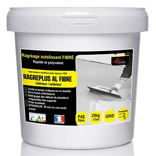 RAGREAGE AUTOLISSANT FIBRE : Ragréage Autonivelant Sol à forte sollicitation P4/P4S ET P3 - Gris - 25 Kg jusqu'à 17m² pour 1mm d'épaisseur - ARCANE INDUSTRIES